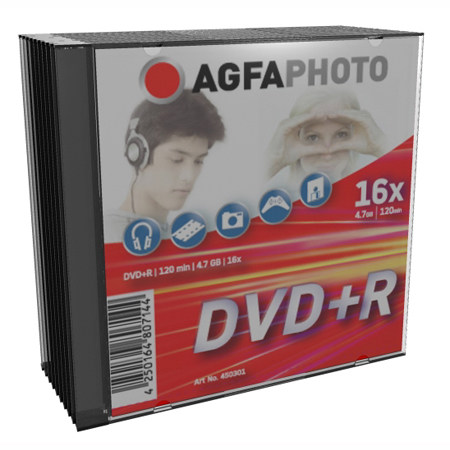 DVD+R AGFA 4.7 GB 16x Speed Slimcase