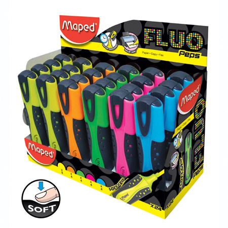 ΥΠΟΓΡΑΜΜΙΣΤΗΣ MAPED FLUO PEP'S SOFT DISPLAY 24 TEM
