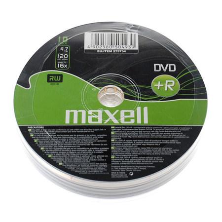 DVD+R MAXELL 16X CB 10