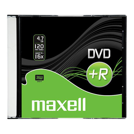 DVD+R MAXELL 5mm 16X SLIM CASE