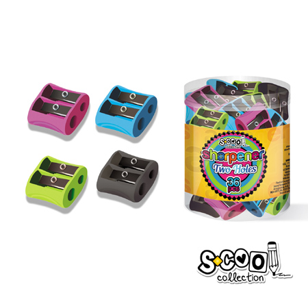 ΞΥΣΤΡΕΣ SCOOL ERGO DOUBLE BRIGHT COLOURS ΔΙΠΛΗ DISPLAY 36T