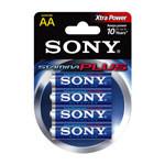 Μπαταρίες Sony Αλκαλικές Plus AA LR6 (4τεμ)