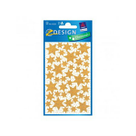 STICKERS AVERY STARS GOLD GLITTER