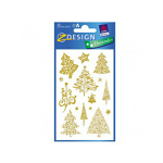 STICKERS AVERY CHRISTMAS TREE GLITTER