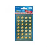STICKERS AVERY CHRISMTAS STARS GOLD