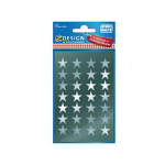 STICKERS AVERY CHRISMTAS STARS SILVER