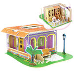 ROBOTIME ΞΥΛΙΝΟ PUZZLE SMALL HOUSE AND FURNITURE ΒΙΒΛΙΟΘΗΚΗ P104 S300/225/3MM