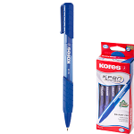 ΣΤΥΛΟ KORES K6 - MEDIUM 0,7MM SOFT GRIP CLIK ΜΠΛΕ