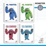 """ΤΕΤΡΑΔΙΟ GLOBAL """"Mr. Monster"""" ΣΠΙΡΑΛ 17Χ25"""