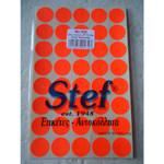 ΕΤΙΚΕΤΕΣ STEF FLUO ΣΤΡΟΓΓΥΛΕΣ ΔΙΑΜ.19mm ΚΟΚΚΙΝΕΣ ΠΑΚΕΤΟ 40 ΦΥΛΛΩΝ