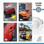 """Τετράδια Global Μονο Σπιράλ """"Super Cars"""" A4 21x30 4 θεμάτων"""